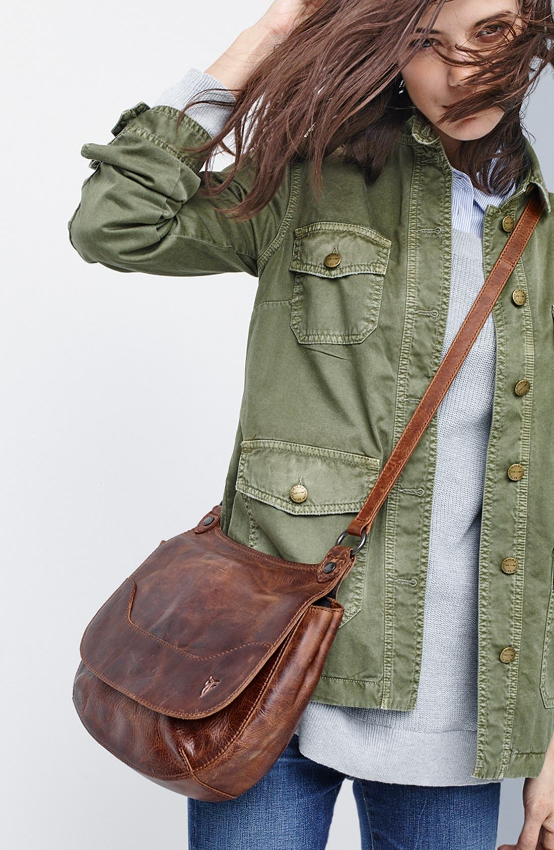 Alternate Image 7  - Frye 'Melissa' Leather Crossbody Bag