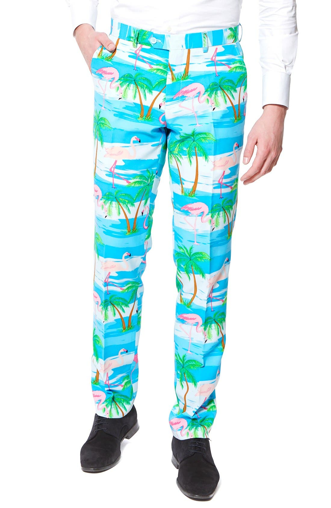 Alternate Image 3  - OppoSuits 'Flaminguy' Trim Fit Two-Piece Suit with Tie