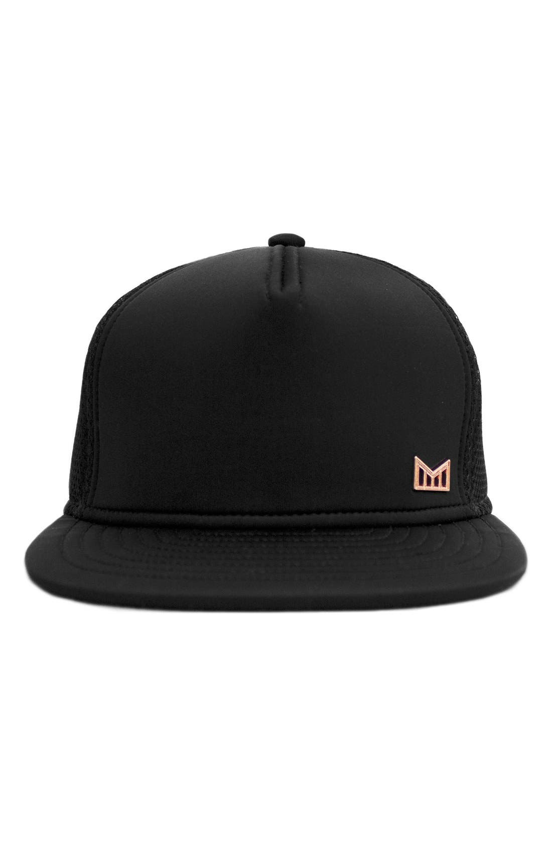 'The Majesty' Mesh Back Snapback Hat,                             Alternate thumbnail 5, color,                             Black