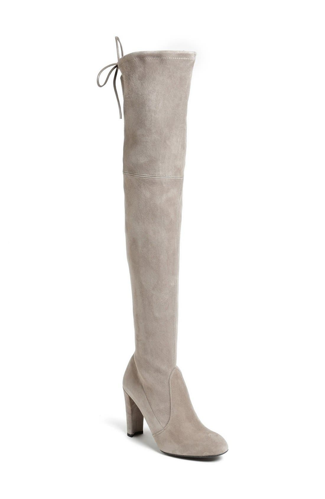 'Highland' Over the Knee Boot,                             Main thumbnail 1, color,                             Topo Suede