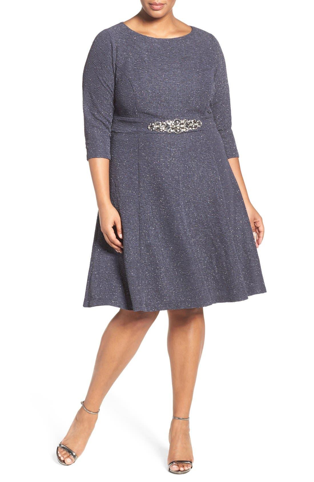 Alternate Image 4  - Eliza J Embellished Fit & Flare Dress