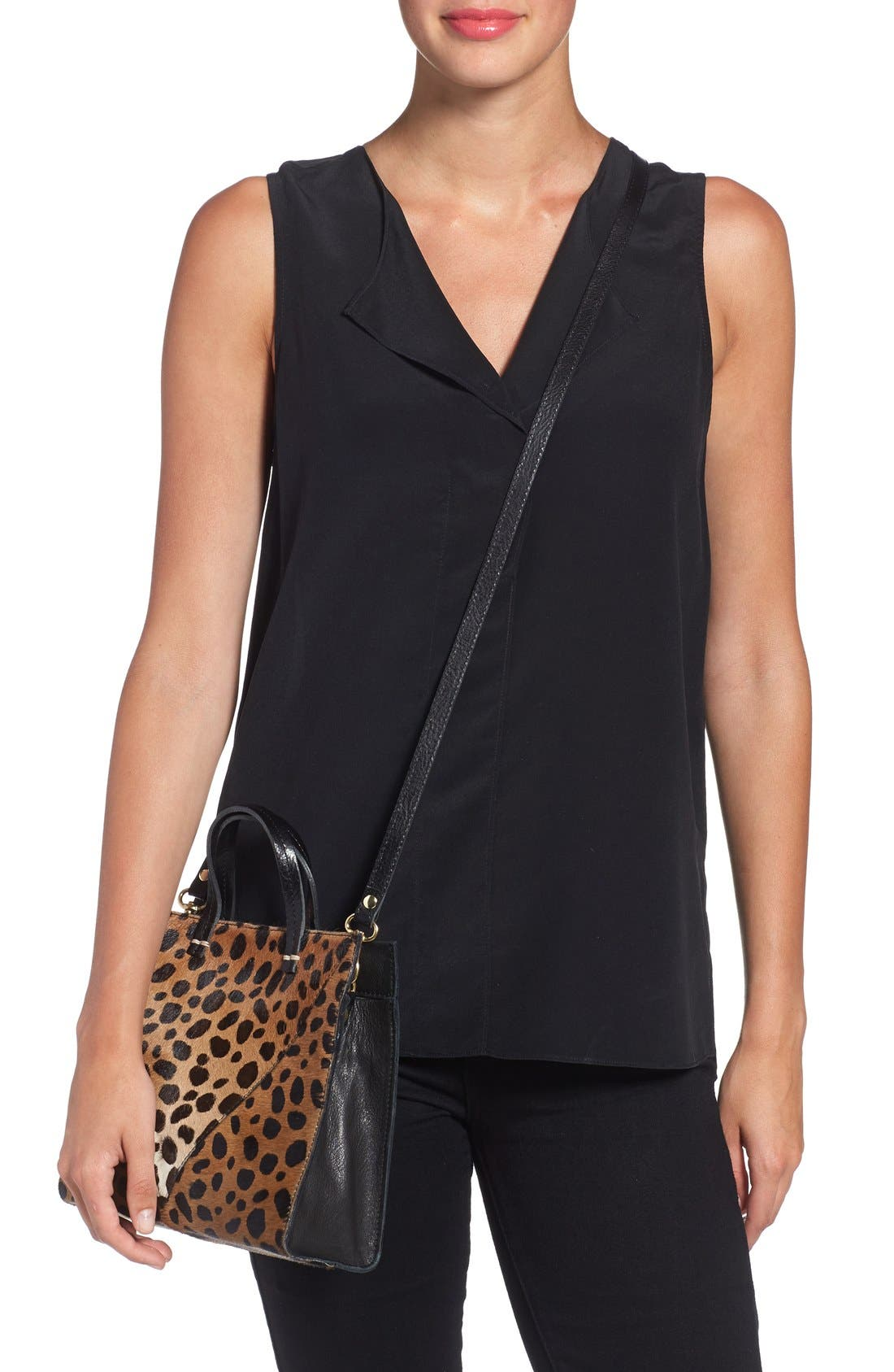 Alternate Image 2  - Clare V. 'Petit Simple' Leopard Print Genuine Calf Hair Tote