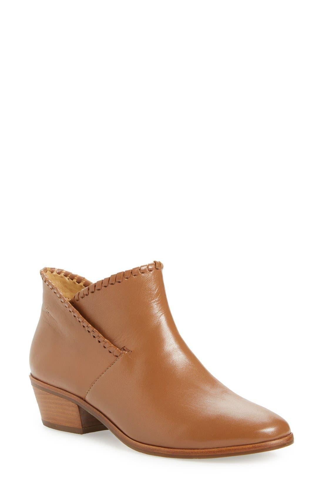 'Sadie' Bootie,                         Main,                         color, Oak Leather