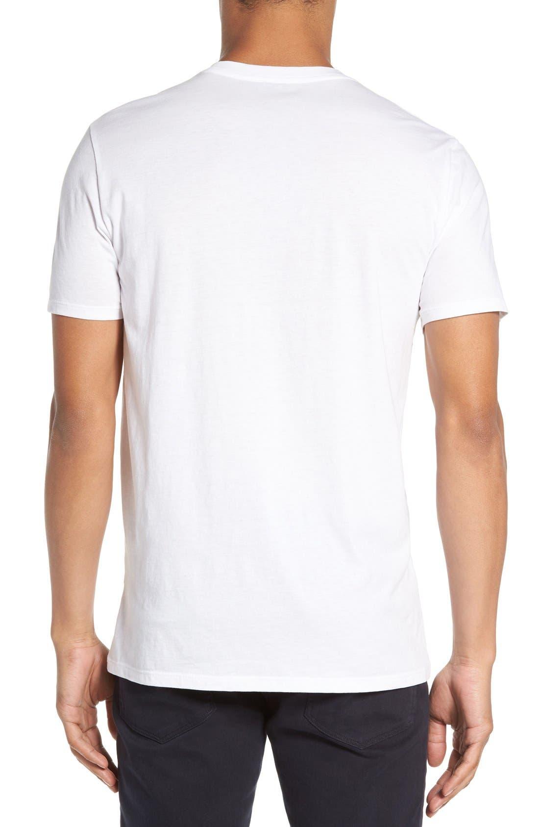 Crewneck T-Shirt,                             Alternate thumbnail 2, color,                             Optic White