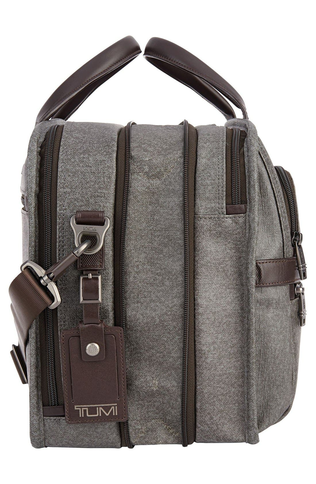 'Alpha 2' Expandable Briefcase,                             Alternate thumbnail 5, color,                             Earl Grey