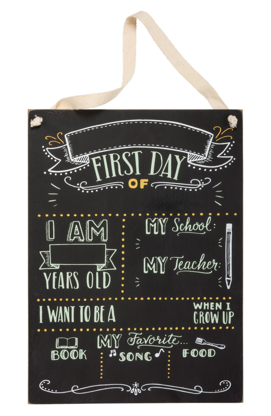Primitives by Kathy 'First Day of School' Chalkboard Sign