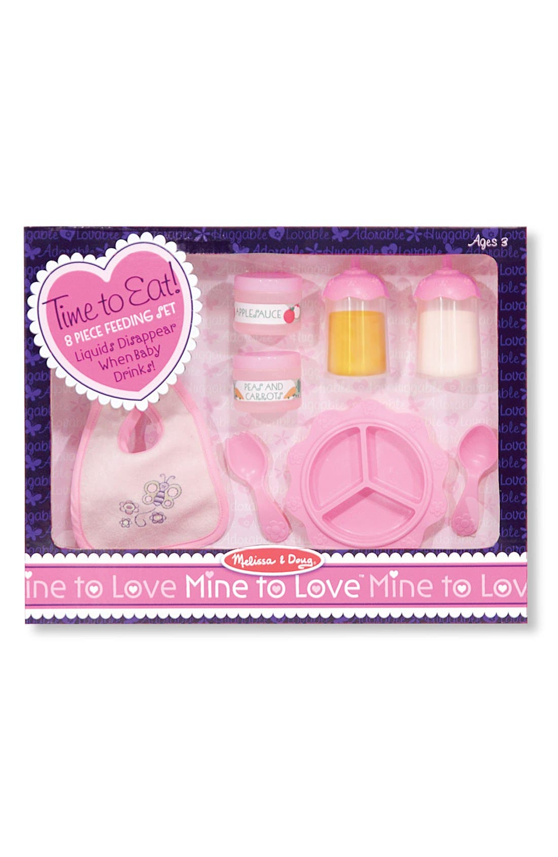 Baby Doll Accessories Set,                             Alternate thumbnail 3, color,                             Pink