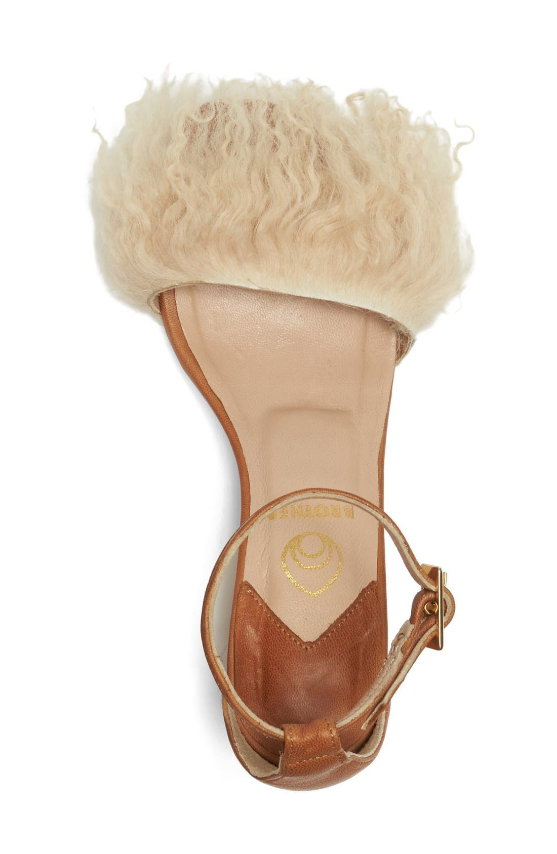 Alternate Image 3  - Brother Vellies Tufted Dhara Genuine Shearling Ankle Strap Sandal (Women)