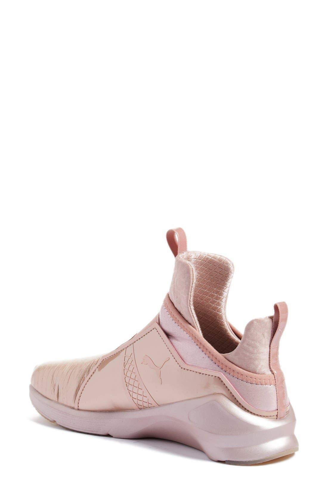Fierce Metallic High Top Sneaker,                             Alternate thumbnail 2, color,                             Rose Gold