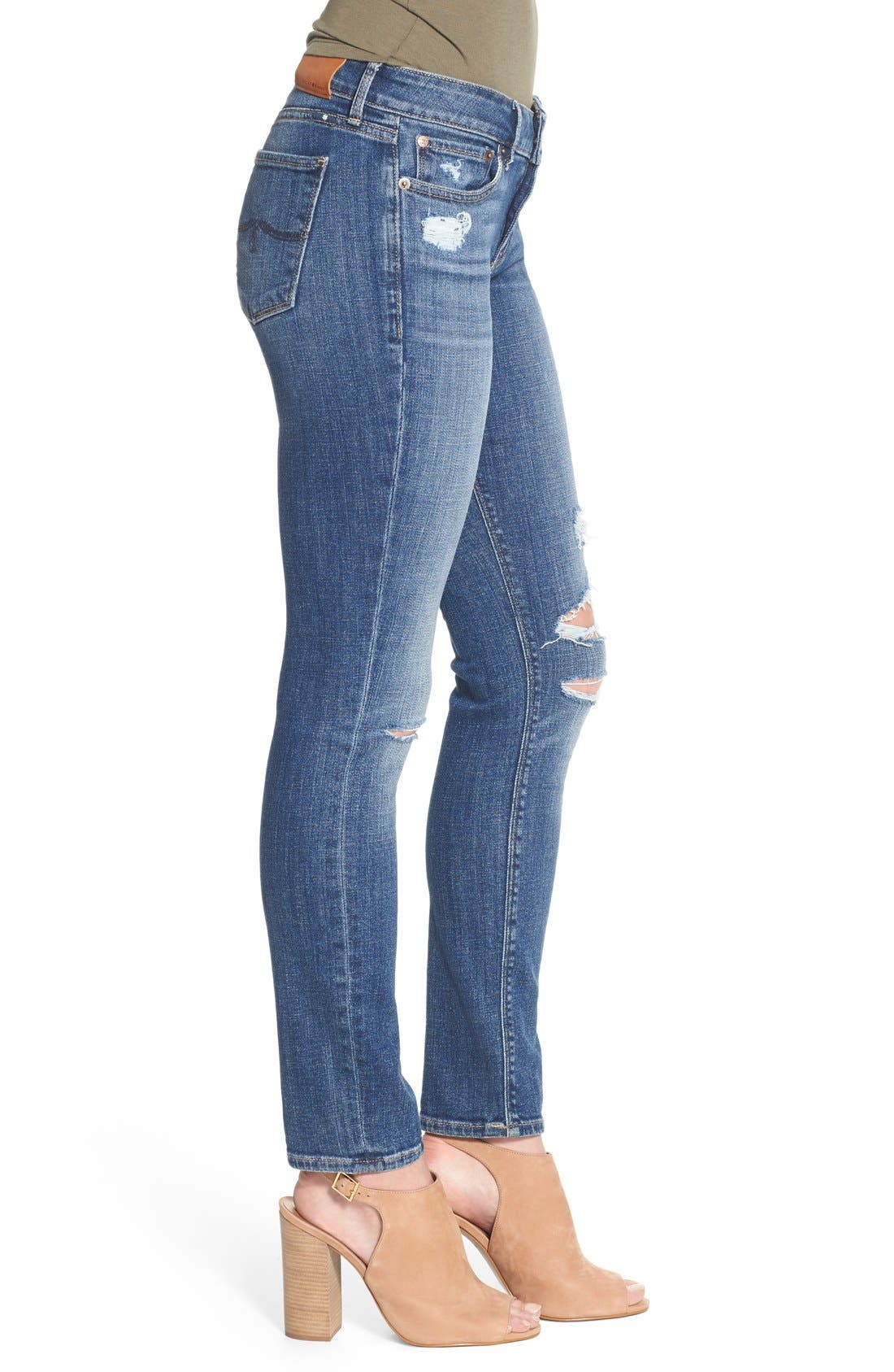 Alternate Image 4  - Lucky Brand 'Lolita' Distressed Stretch Skinny Jeans (Morrison)