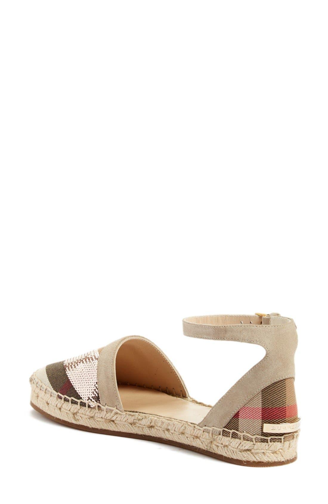 'Abbingdon' Ankle Strap Espadrille Sandal,                             Alternate thumbnail 2, color,                             Grey/ Pale Pink