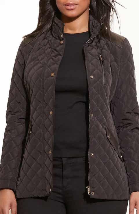 Women's Plus-Size Coats & Jackets | Nordstrom : brown quilted coat - Adamdwight.com