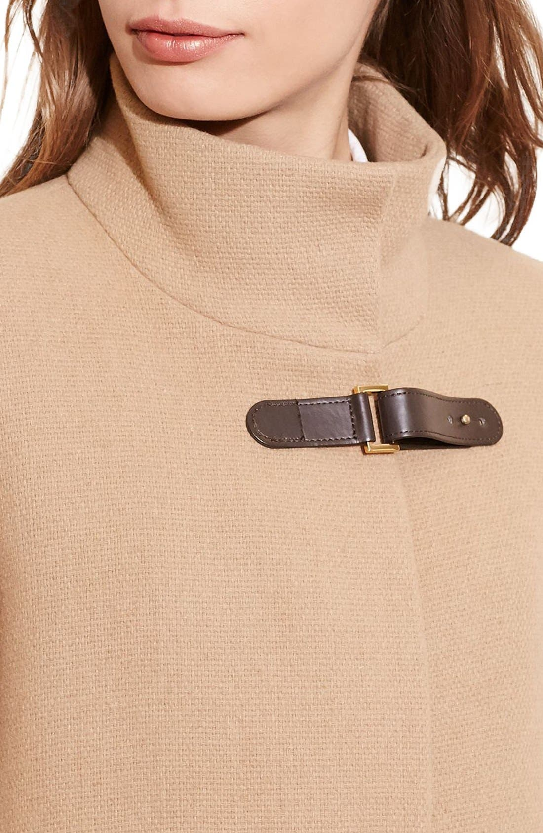Alternate Image 3  - Lauren Ralph Lauren Funnel Neck Wool Coat