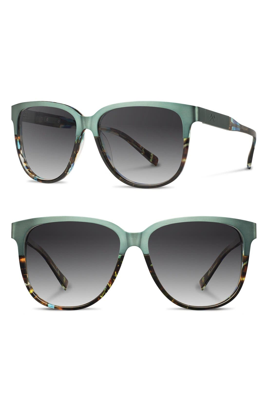 'McKenzie' 57mm Polarized Sunglasses,                             Main thumbnail 1, color,                             Opal/ Titanium/ Grey Polar