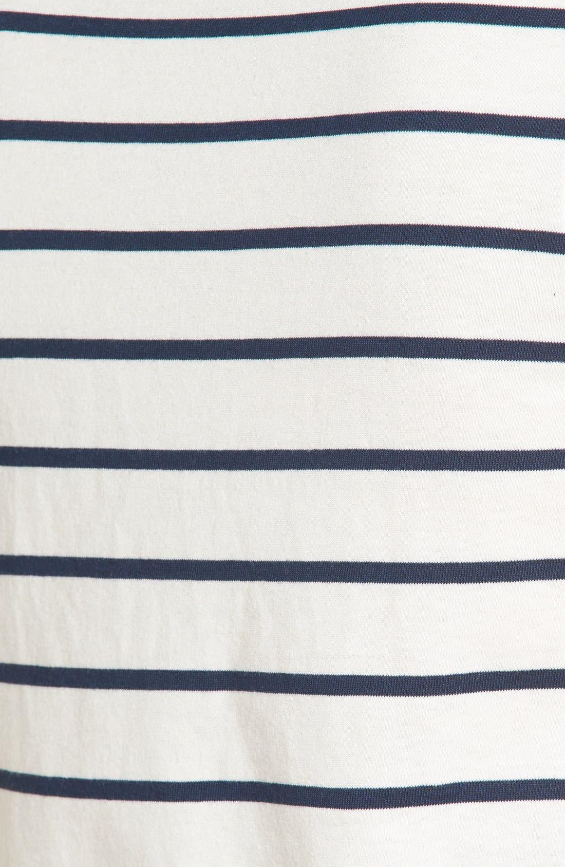 'Ardelle' Stripe Mock Neck Tank,                             Alternate thumbnail 5, color,                             Bright Ivory