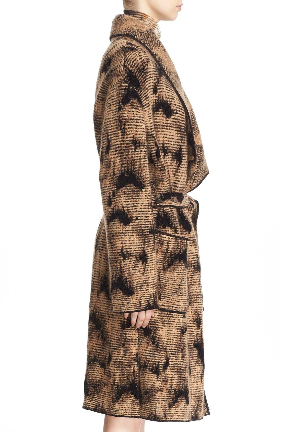 Alternate Image 5  - Fuzzi Jacquard Knit Coat