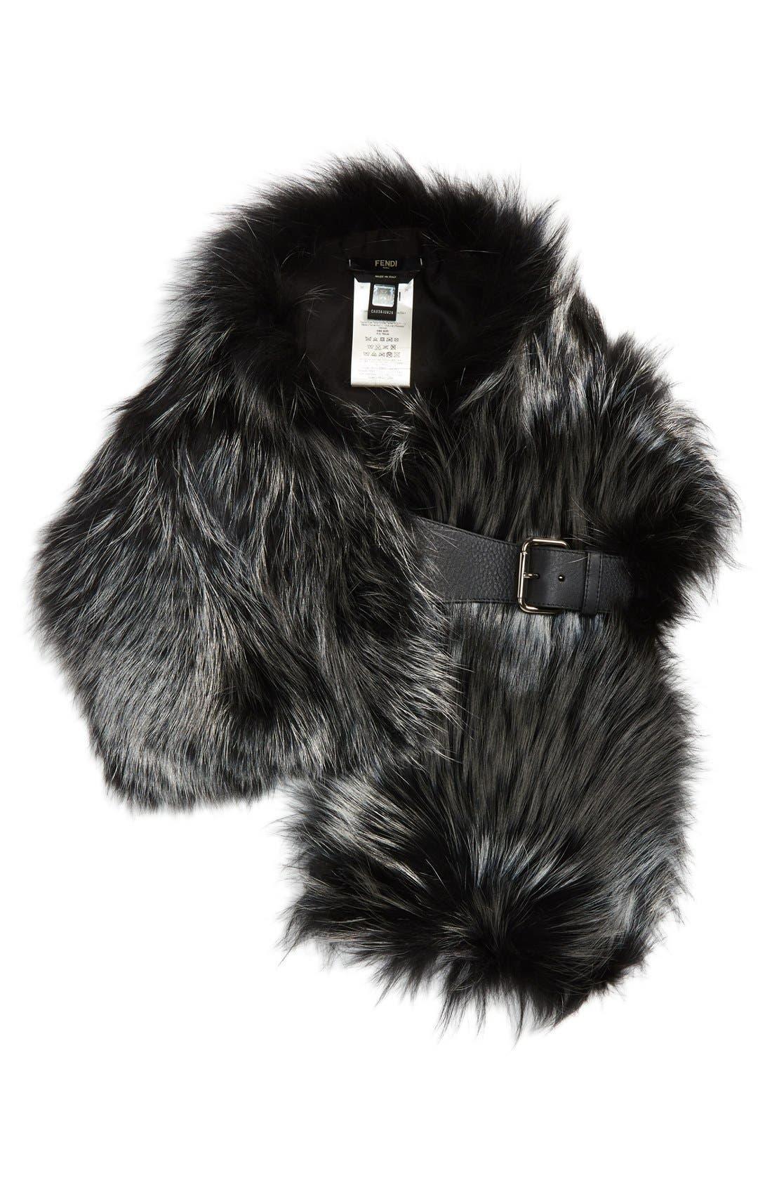 Alternate Image 2  - Fendi Genuine Fox Fur Wrap