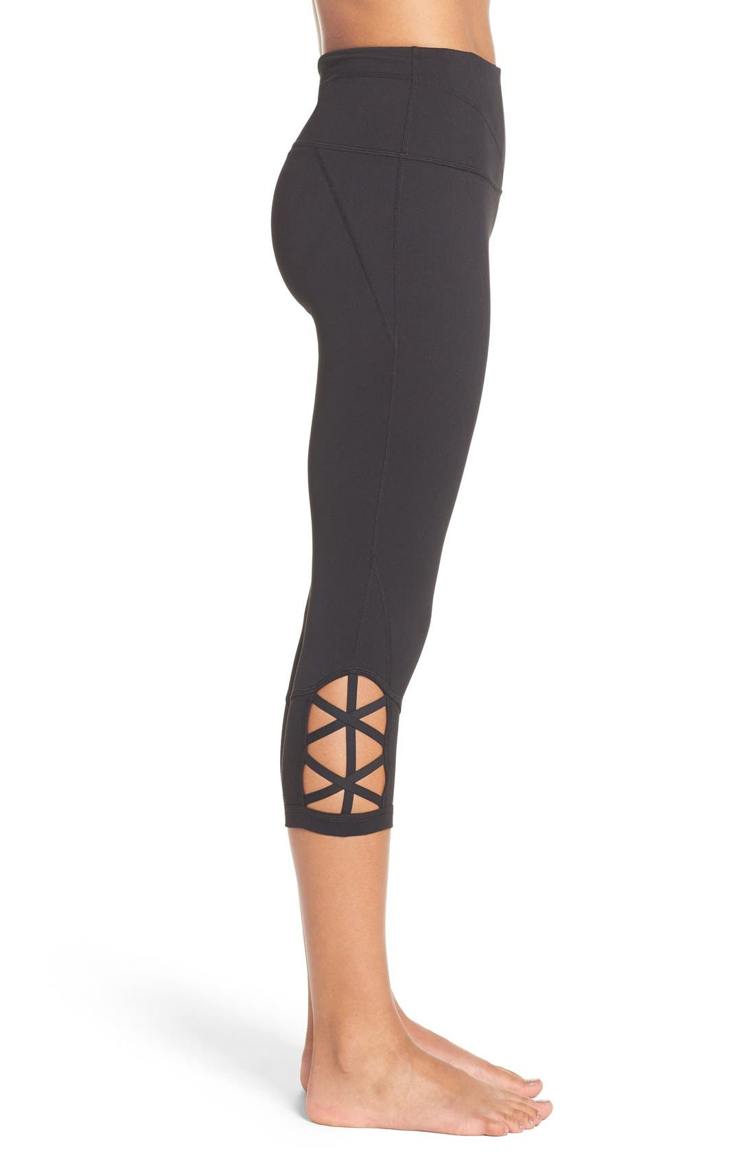 Alternate Image 3  - Zella 'Midnight' High Waist Crop Leggings