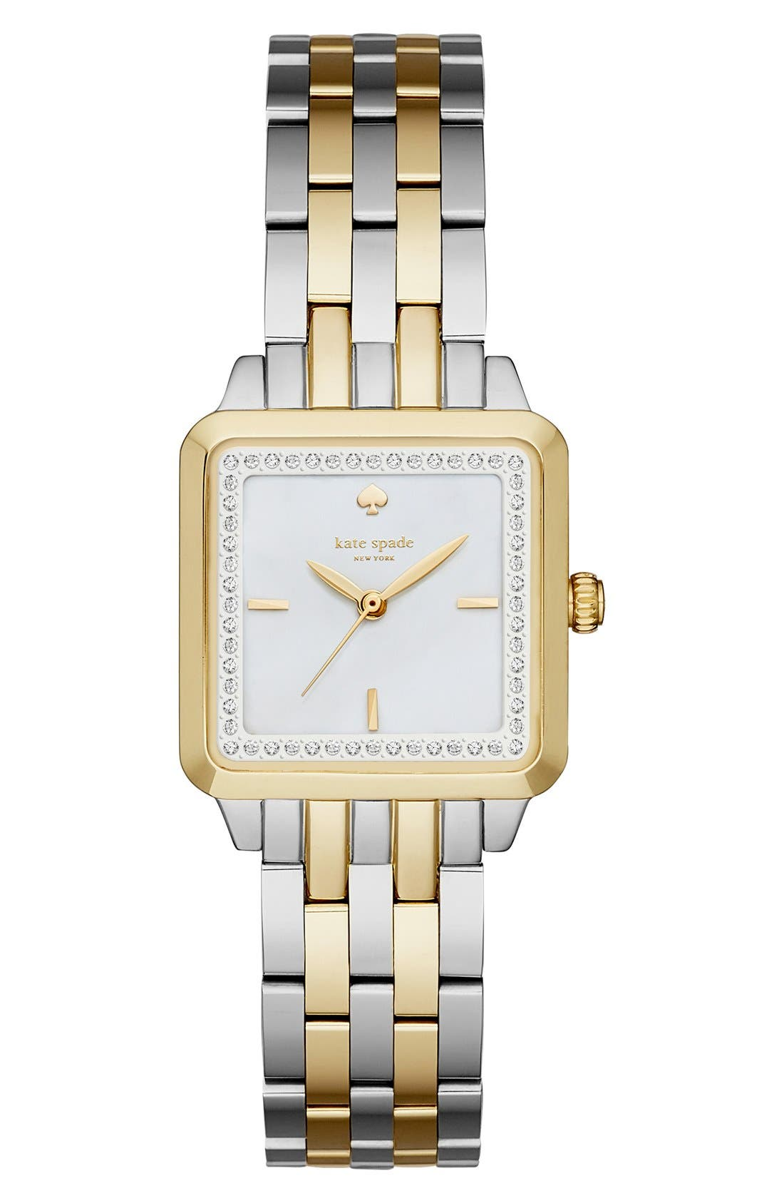 washington square bracelet watch, 25mm,                         Main,                         color, Silver/ Gold/ Mother Of Pearl