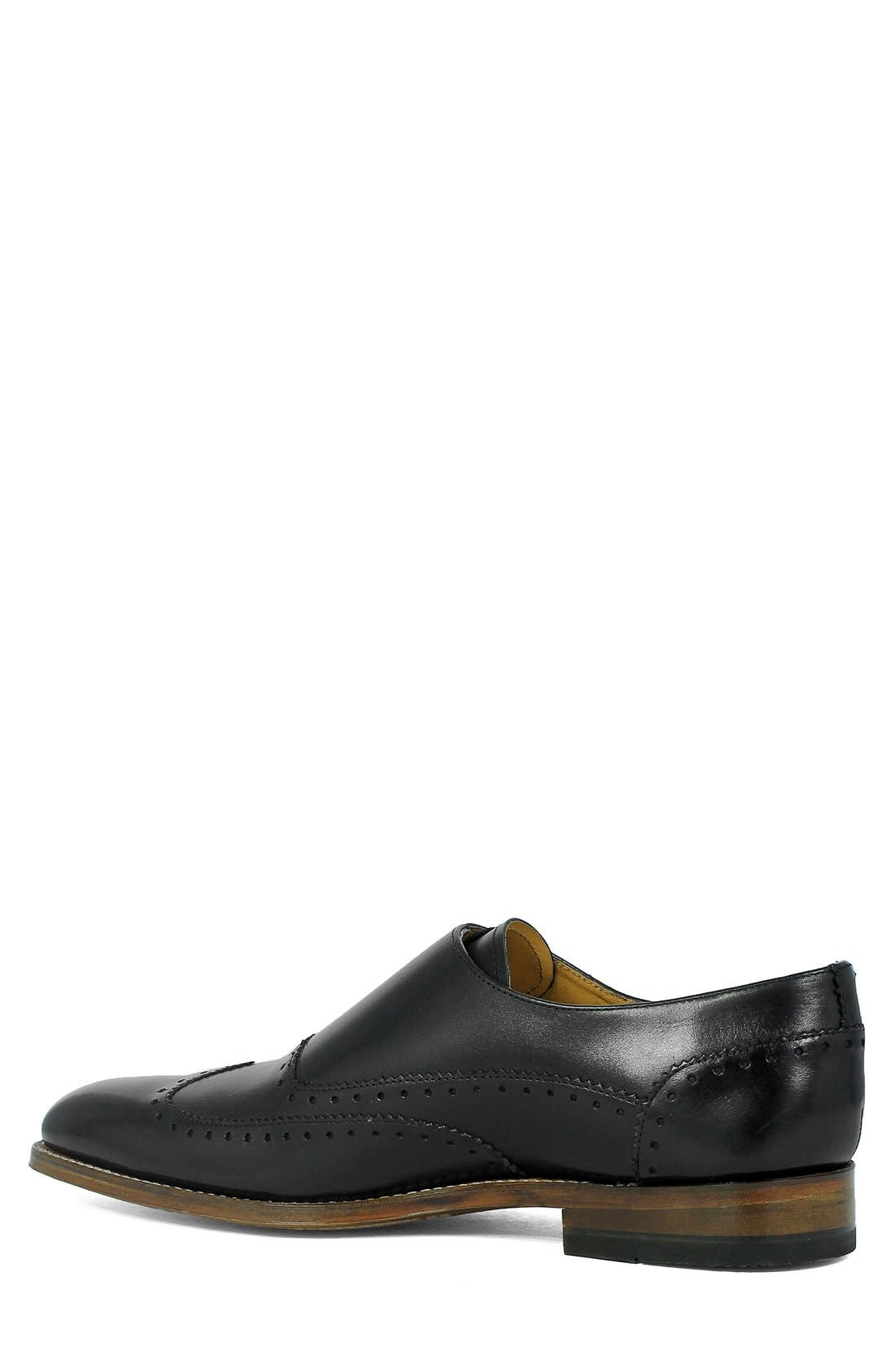 Madison II Monk Strap Shoe,                             Alternate thumbnail 2, color,                             Black
