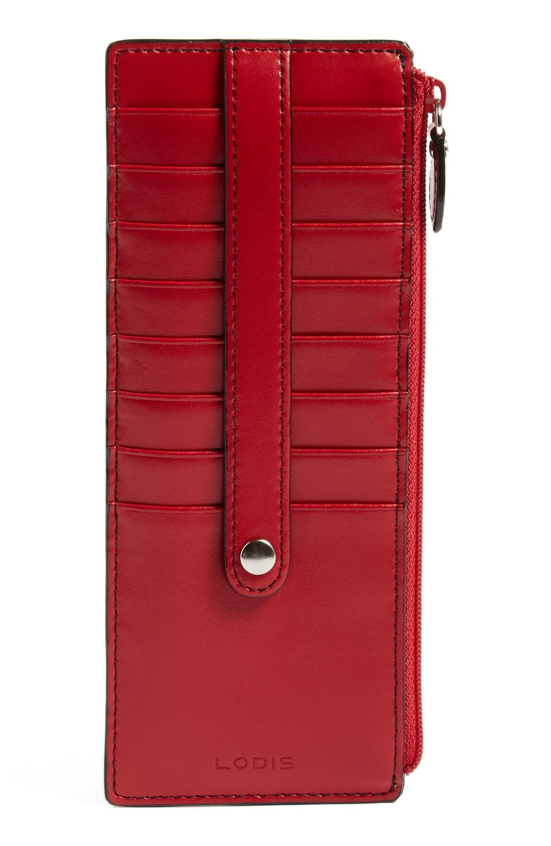 Alternate Image 1 Selected - LODIS Los Angeles Audrey RFID Leather Credit Card Case (Nordstrom Exclusive)