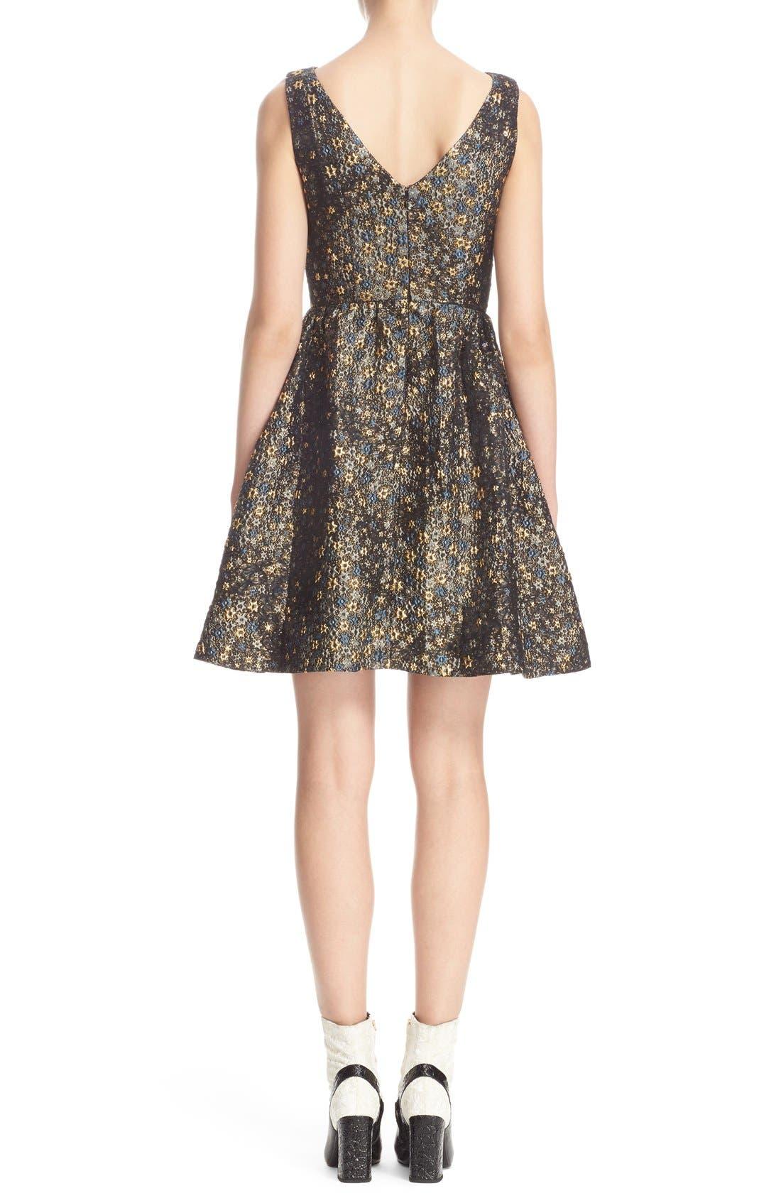 Alternate Image 2  - Erdem Star Jacquard Fit & Flare Dress