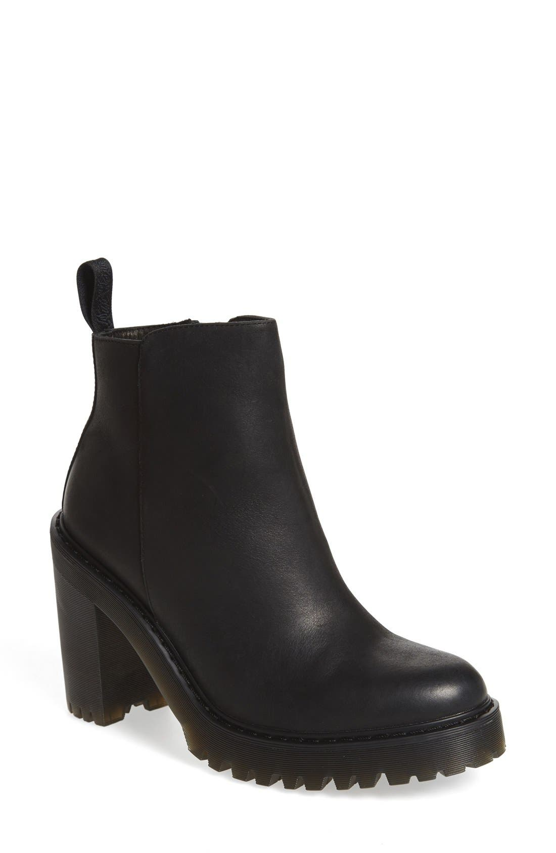 'Magdalena' Platform Bootie,                             Main thumbnail 1, color,                             Black Wyoming