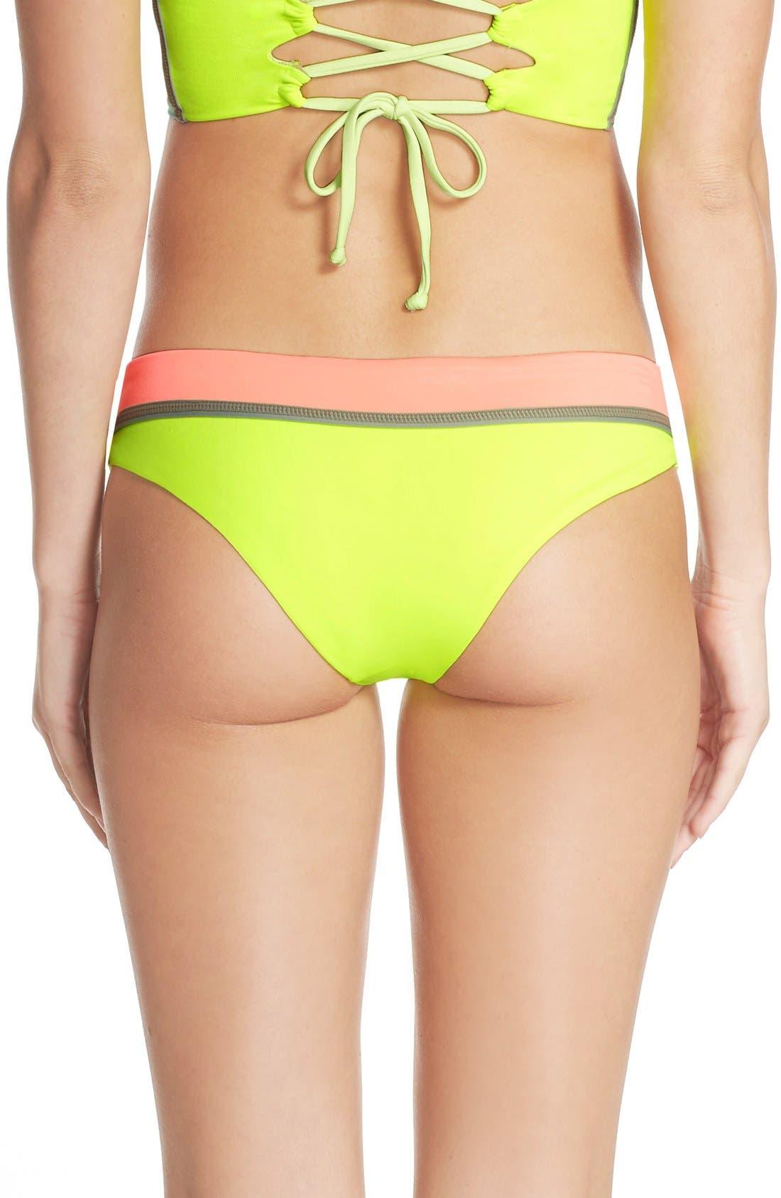 Main Image - Maaji 'Lime Cubism' Reversible Bikini Bottoms