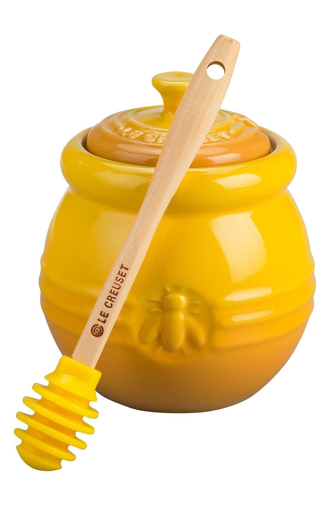 Main Image - Le Creuset Stoneware Honey Pot & Dipper