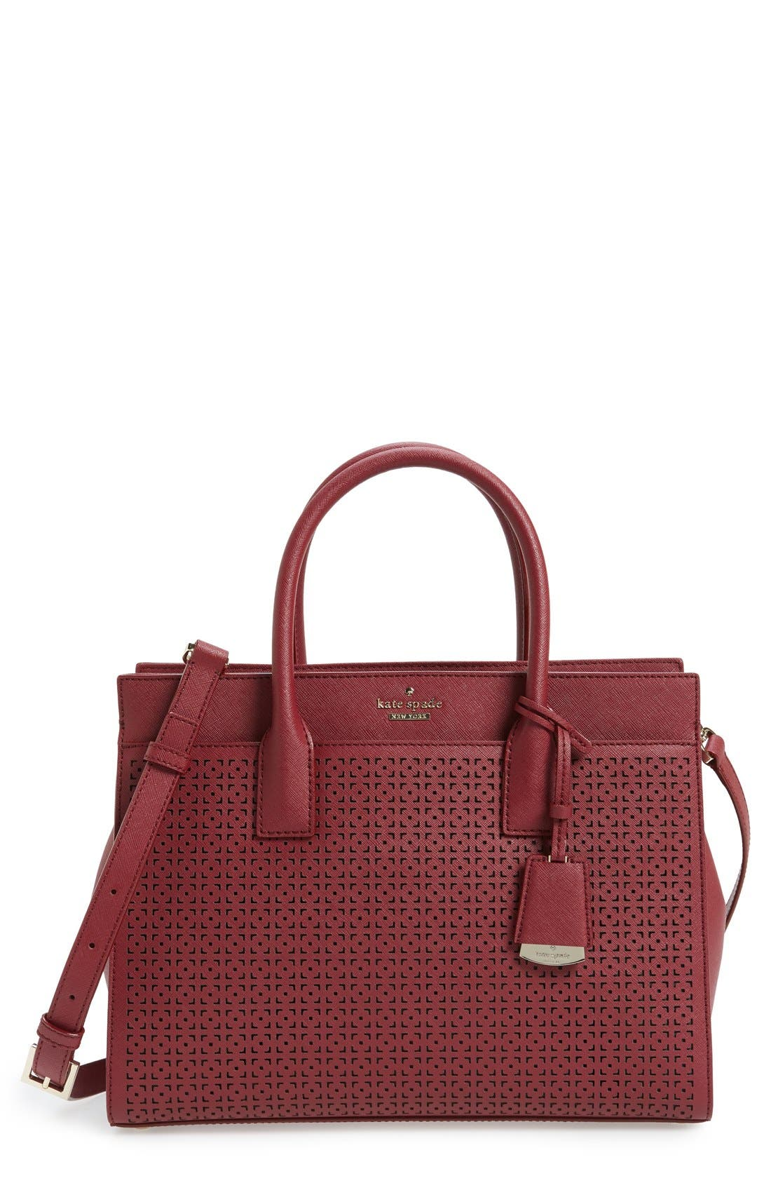 Alternate Image 1 Selected - kate spade new york 'cameron street - candace' perforated satchel