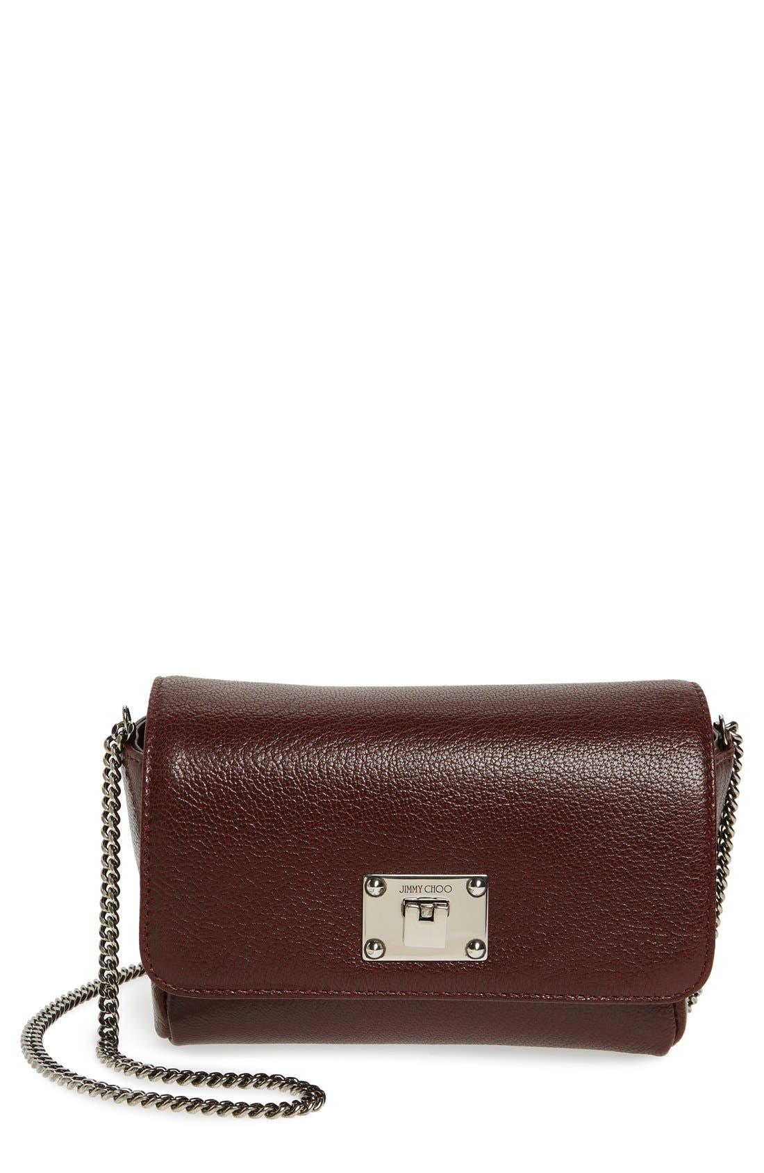 Main Image - Jimmy Choo 'Ruby' Grainy Leather Clutch