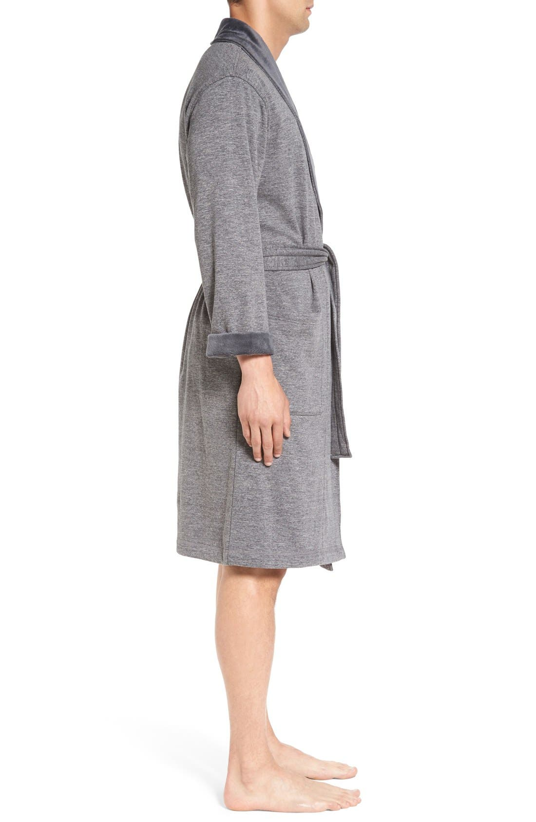 Alternate Image 3  - UGG® 'Robinson' Stretch Cotton Robe