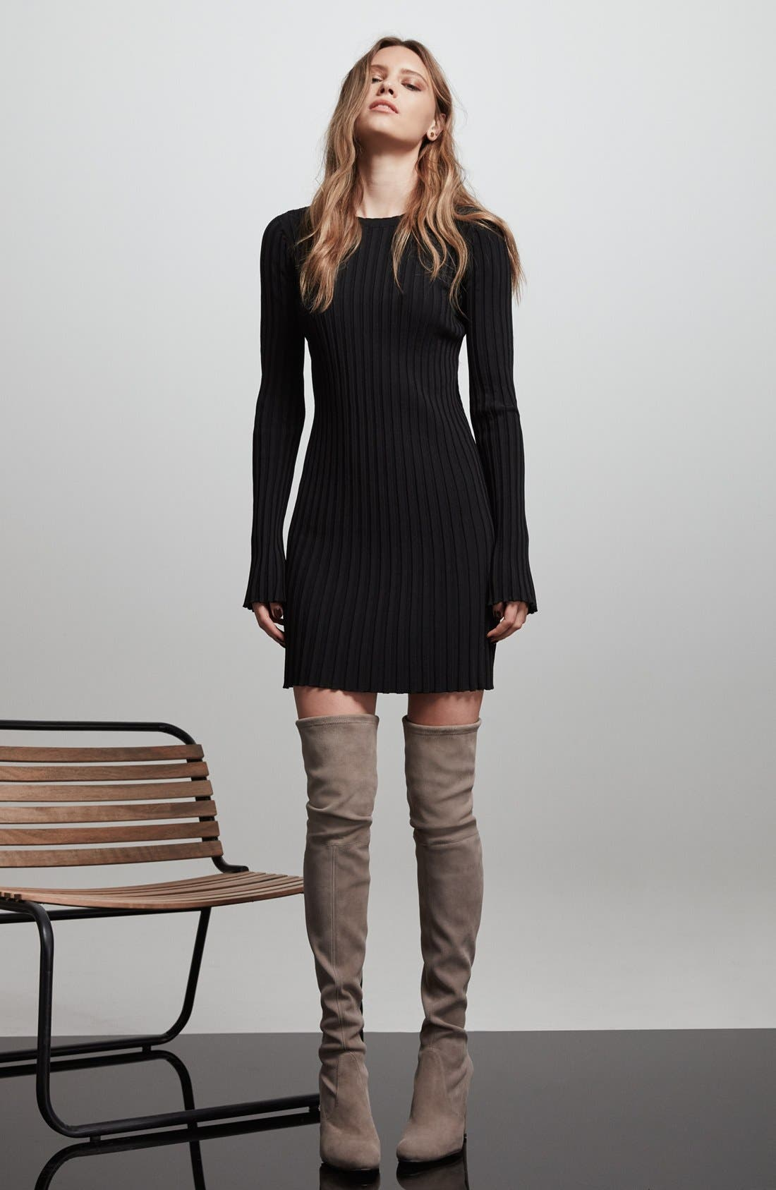 'Highland' Over the Knee Boot,                             Alternate thumbnail 6, color,