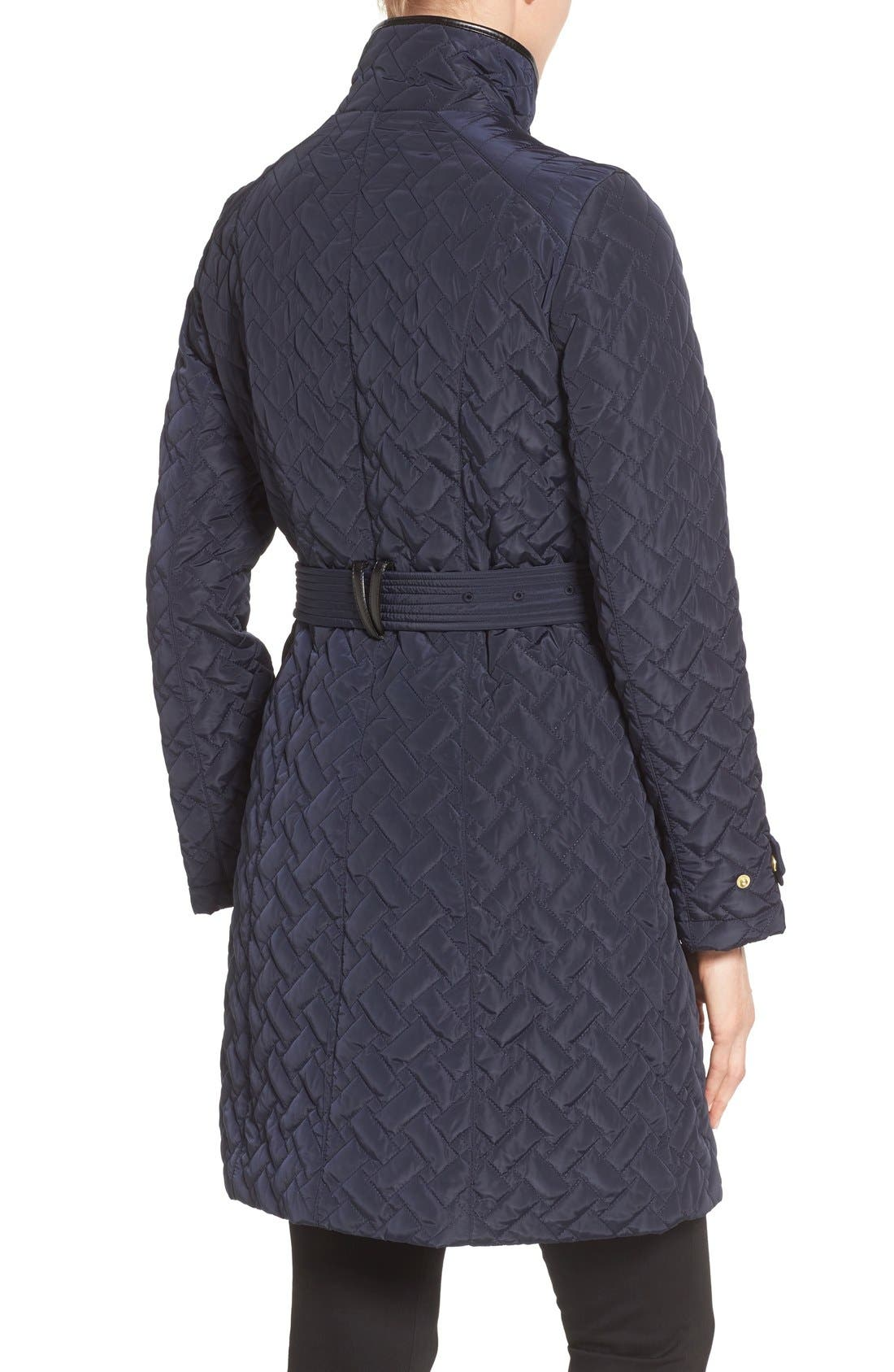 Alternate Image 2  - Cole Haan SignatureBelted Quilted Coat