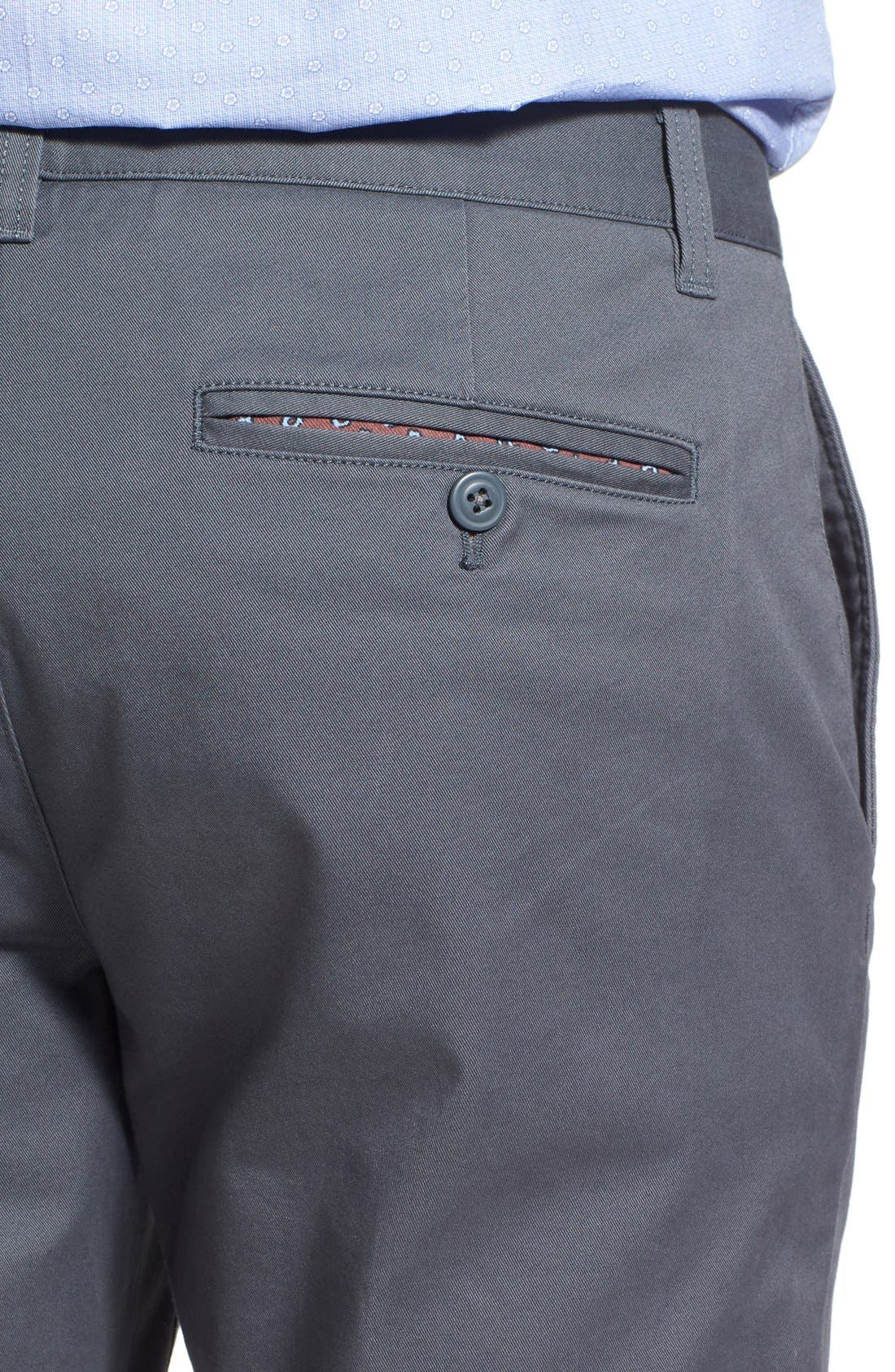 Slim Fit Stretch Washed Chinos,                             Alternate thumbnail 4, color,                             Slate