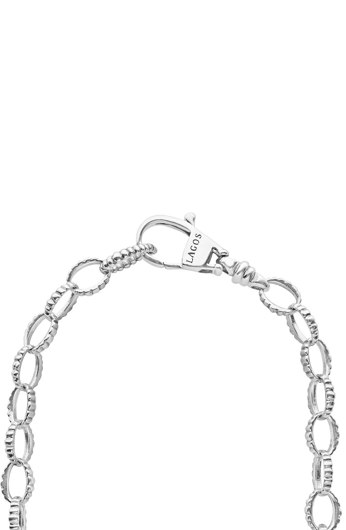 Long Link Necklace,                             Alternate thumbnail 4, color,                             Sterling Silver