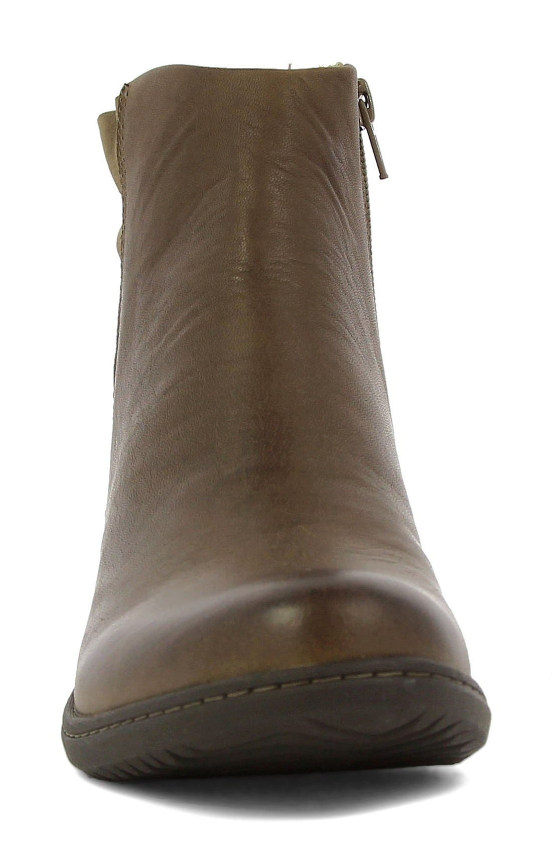 'Carly' Waterproof Short Boot,                             Alternate thumbnail 2, color,                             Hazelnut Leather
