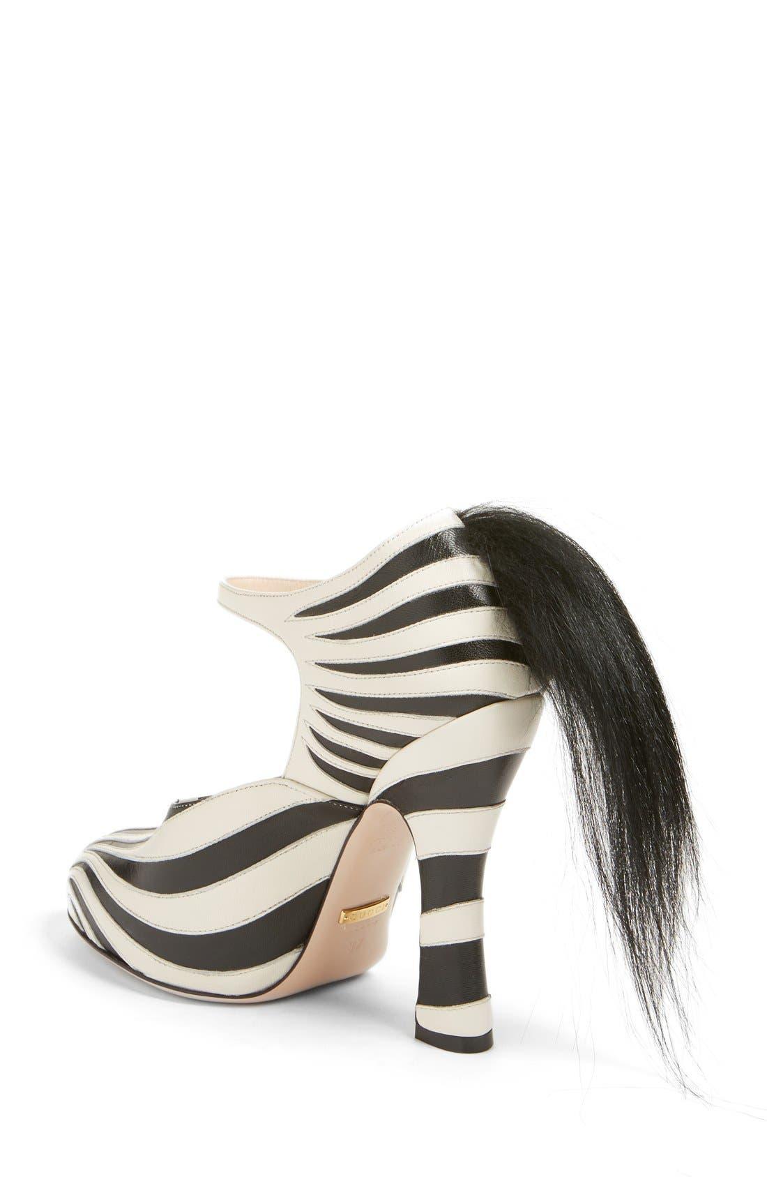 Alternate Image 2  - Gucci 'Lesley' Zebra Stripe Pump (Women)