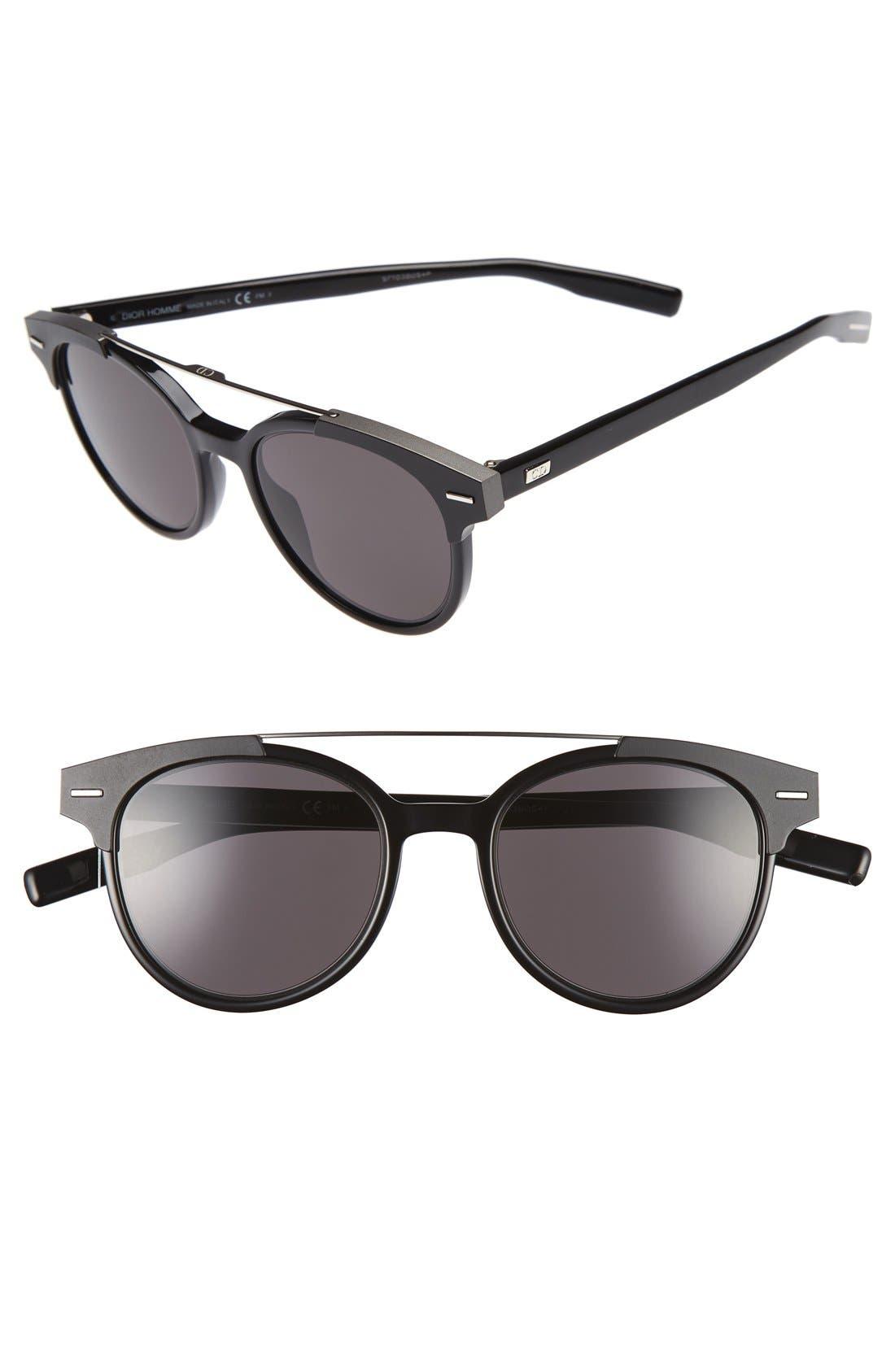 Dior 'Black Tie' 51mm Sunglasses,                             Main thumbnail 1, color,                             Black