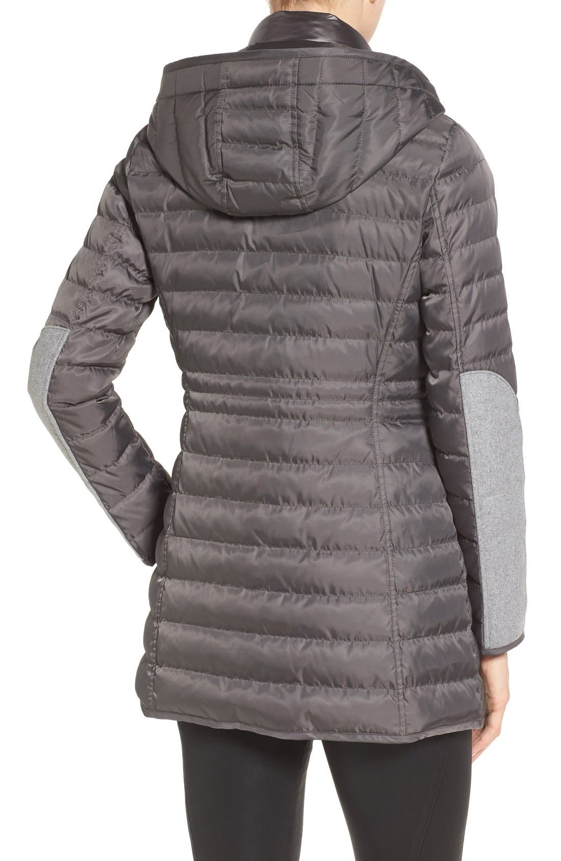 Quilted Down Coat,                             Alternate thumbnail 2, color,                             Iron