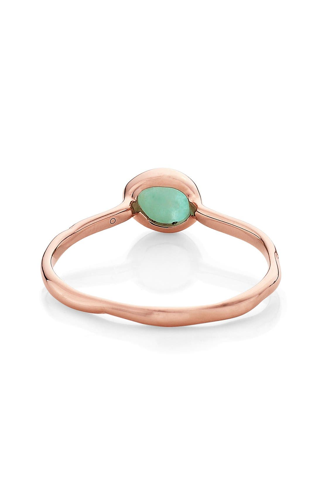 'Siren' Small Stacking Ring,                             Alternate thumbnail 3, color,                             Amazonite/ Rose Gold