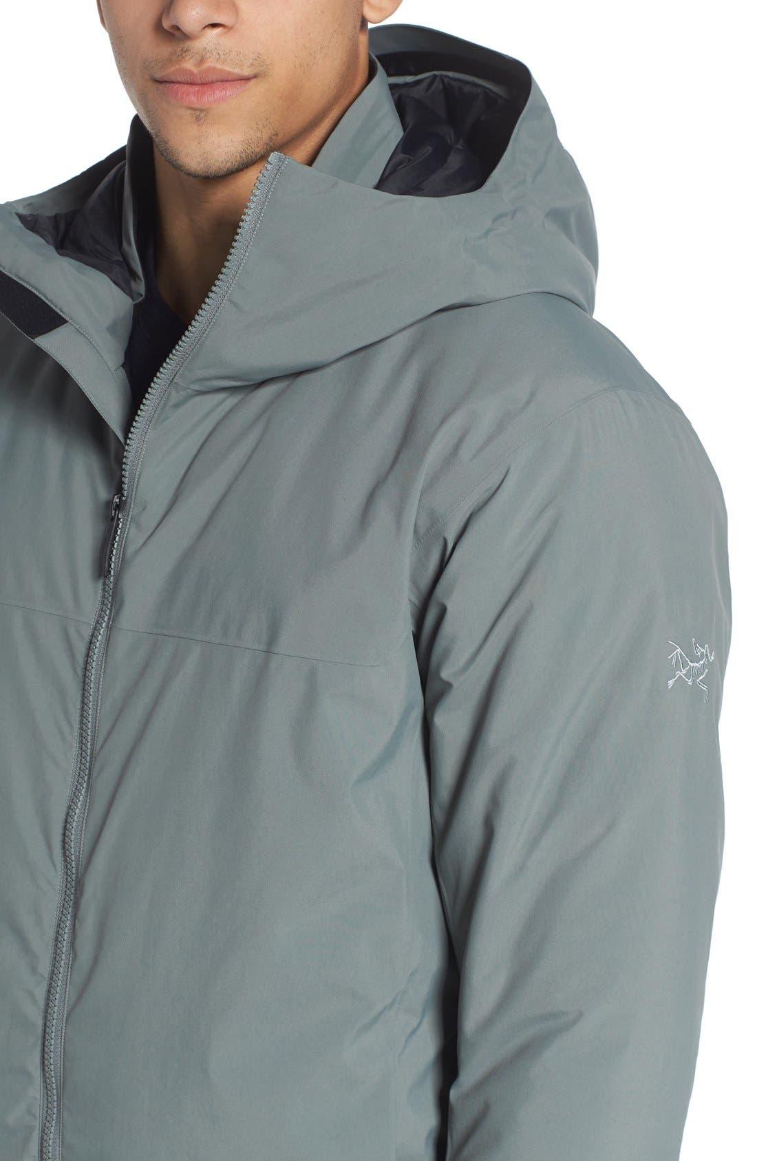 'Koda' Hooded Waterproof Shell Jacket,                             Alternate thumbnail 4, color,                             Autobahn