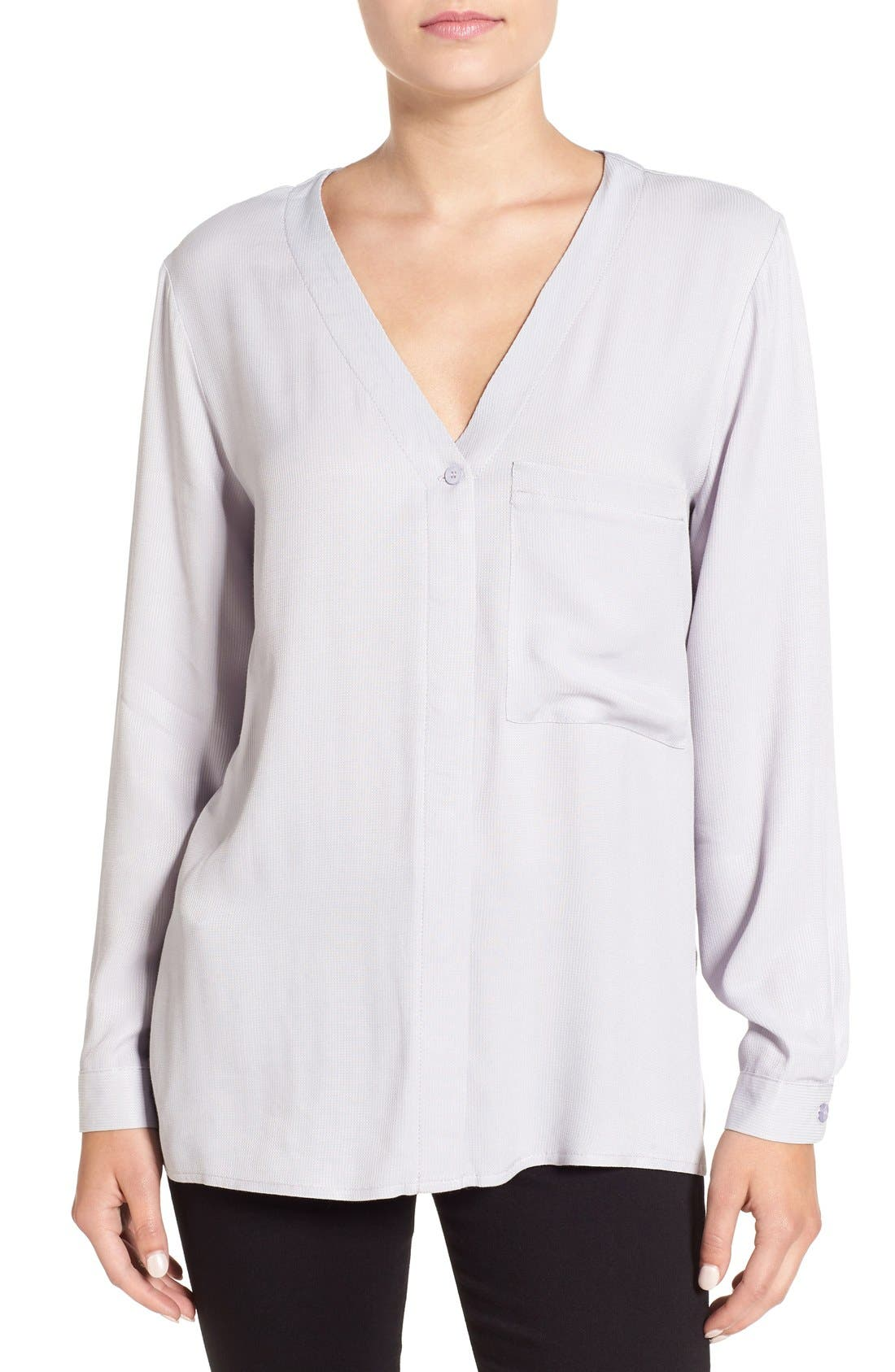Alternate Image 1 Selected - Topshop Wrap Back Long Sleeve Blouse