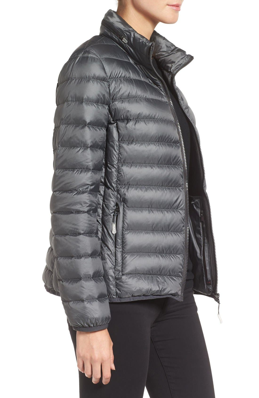 Pax on the Go Packable Quilted Jacket,                             Alternate thumbnail 3, color,                             Slate Grey