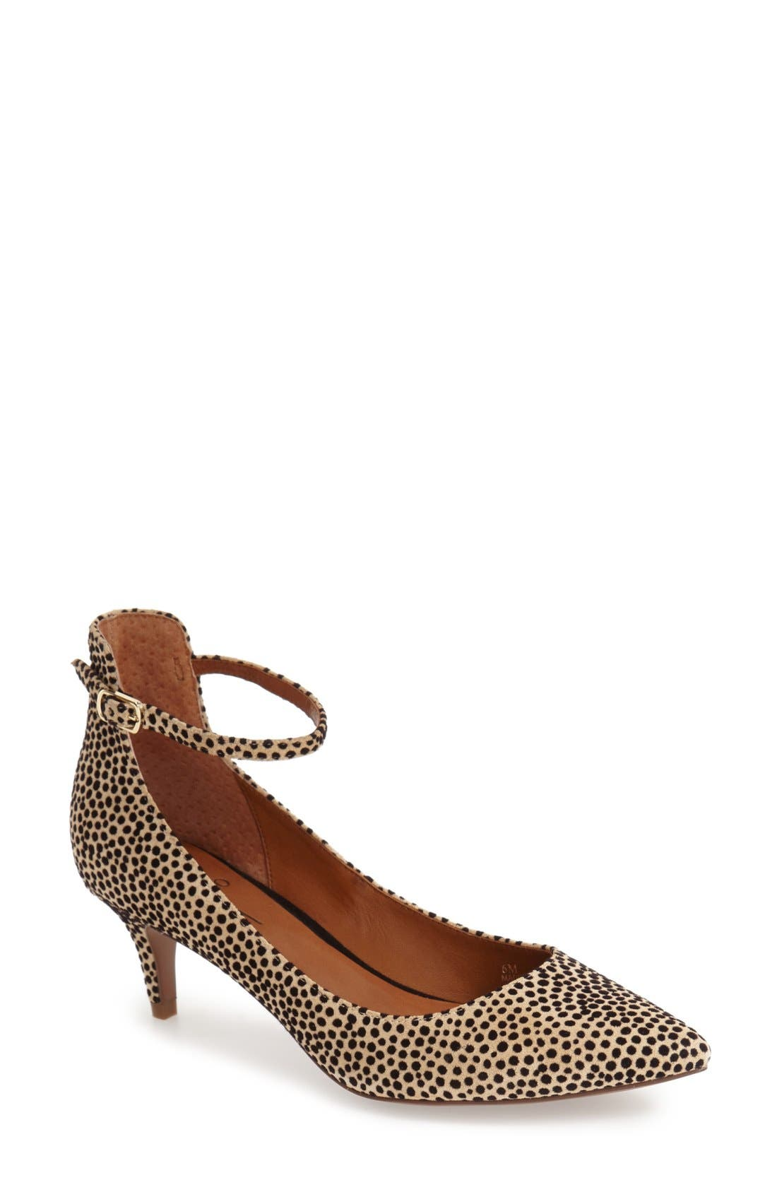 Linea Paolo 'Cutie' Ankle Strap Pointy Toe Pump (Women)