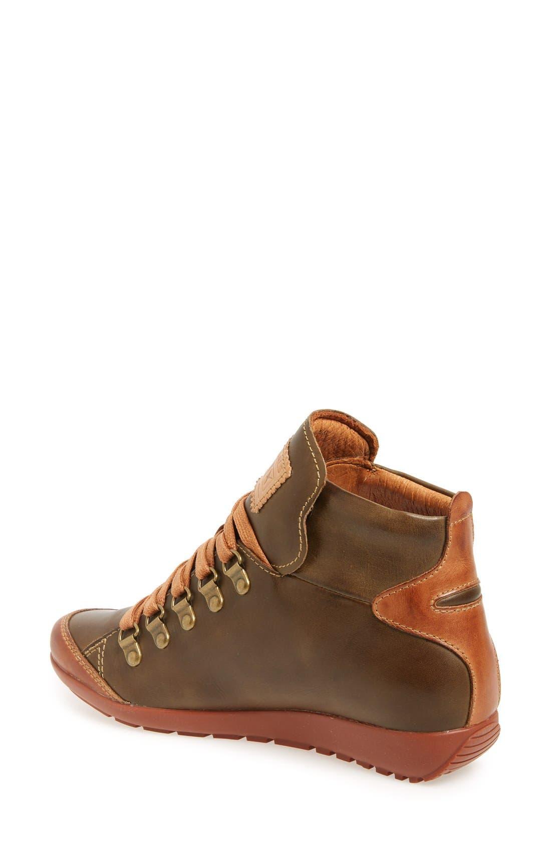 Lisboa High Top Sneaker,                             Alternate thumbnail 2, color,                             Moss Leather