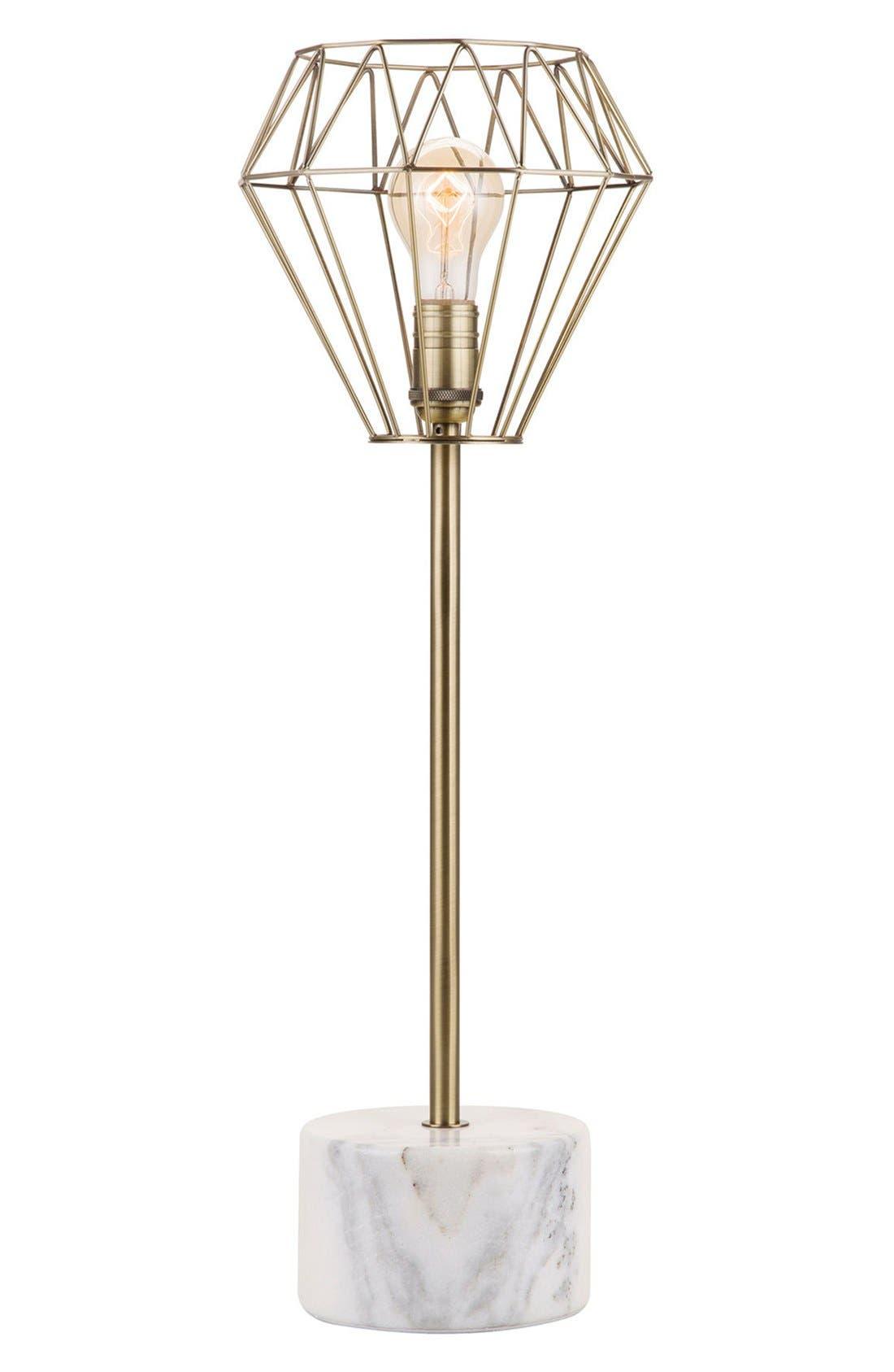 JAlexander Brass & Marble Table Lamp,                         Main,                         color, Metallic Gold