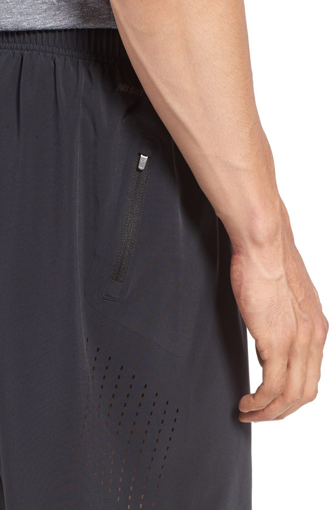 'Shift' Athletic Fit Training Shorts,                             Alternate thumbnail 4, color,                             Black