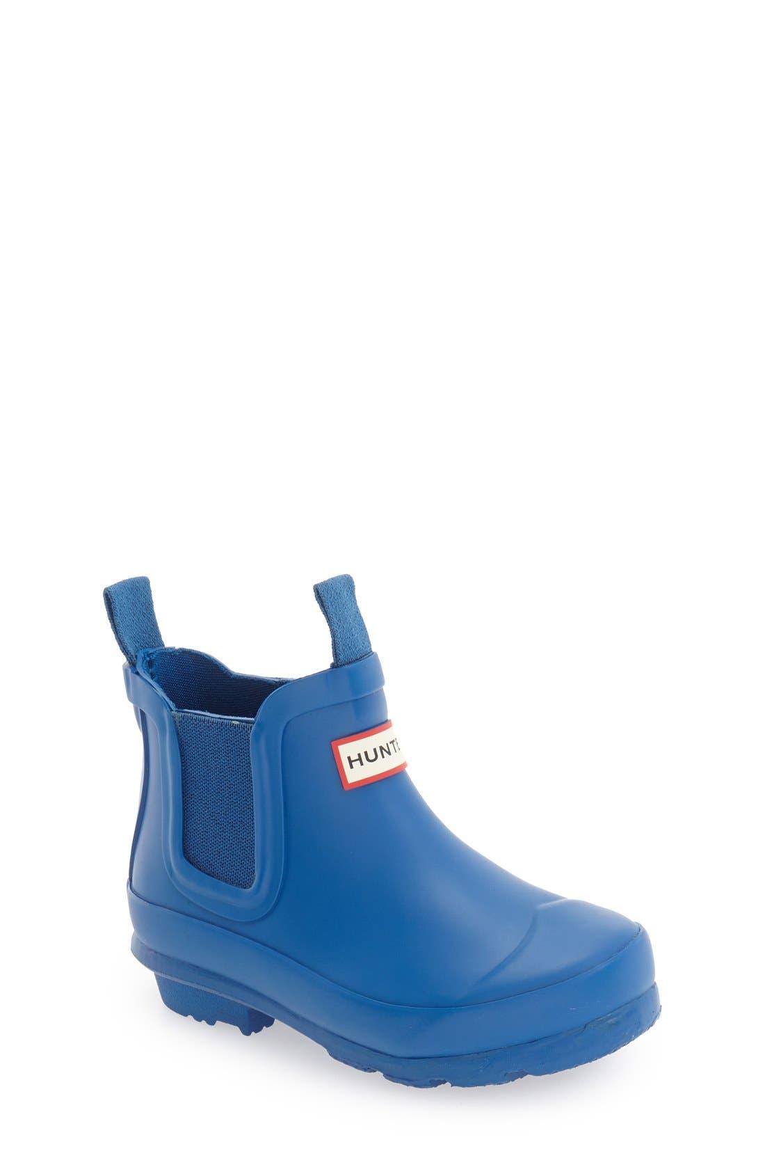 'Original' Chelsea Rain Boot,                             Main thumbnail 1, color,                             Azure