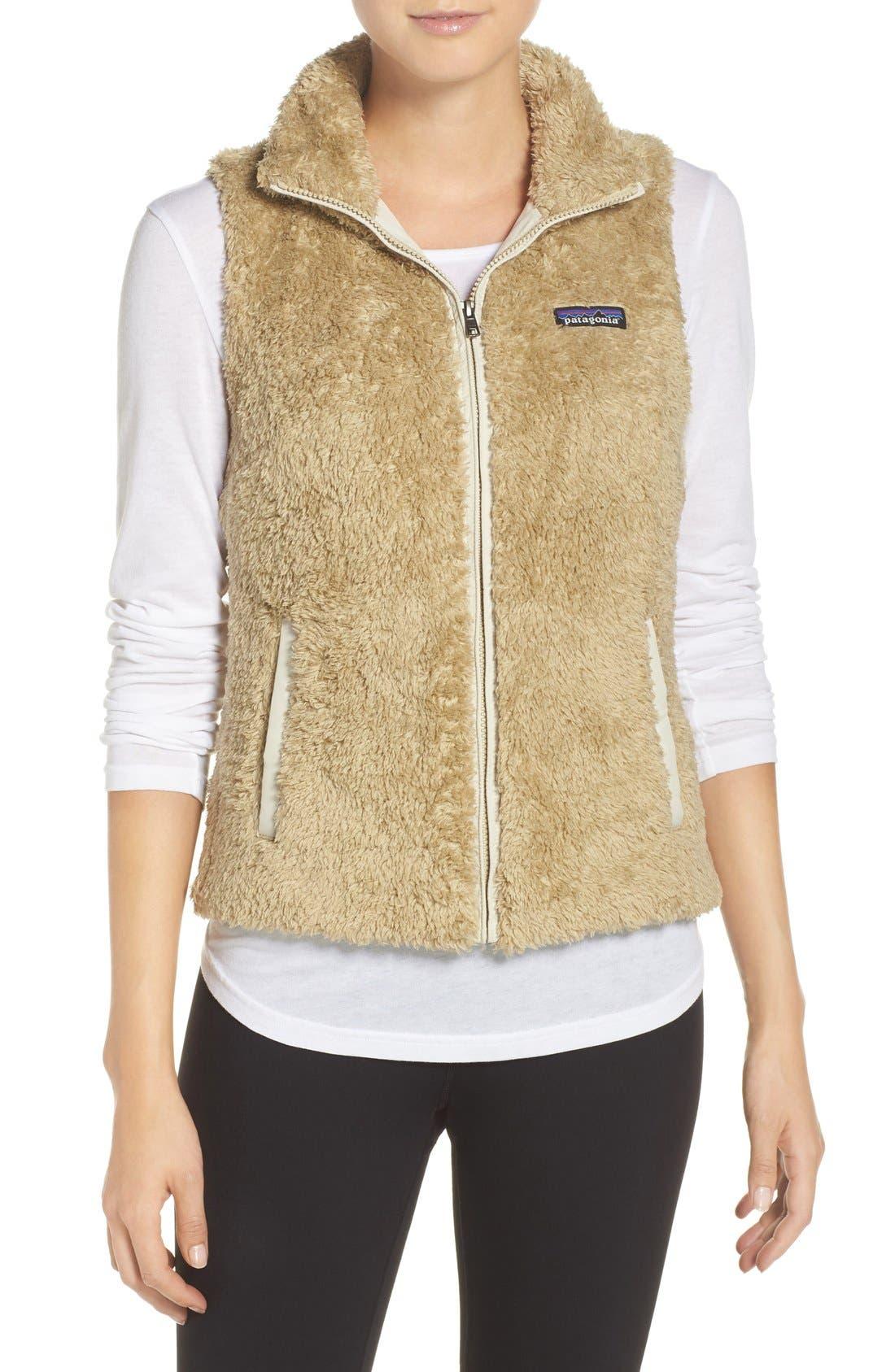 Los Gatos Fleece Vest,                         Main,                         color, El Cap Khaki